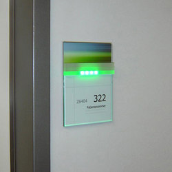 quintessenz Door plate change displays | Room signs | Meng Informationstechnik