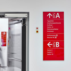 quintessenz Direction signs wall-mounted | Wayfinding | Meng Informationstechnik
