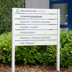 quintessenz upright signage | Information totems | Meng Informationstechnik