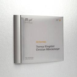 system seven Door plate | Cartelli segnaletici per ambienti | Meng Informationstechnik