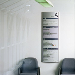 system seven Direction signs wall-mounted | Wayfinding | Meng Informationstechnik