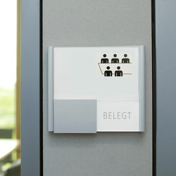tube+panel Door plate exchangeable displays | Room signs | Meng Informationstechnik