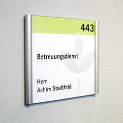 tube+panel Door plate S | Room signs | Meng Informationstechnik