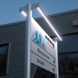 tube+panel Outdoor signs | Information totems | Meng Informationstechnik