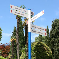 tube+panel Multi-directional sign | Segnaletica | Meng Informationstechnik