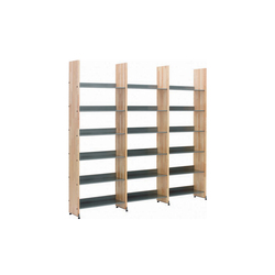 Littbus Wood / Single sided 290x2044 mm | Library shelving systems | Lustrum