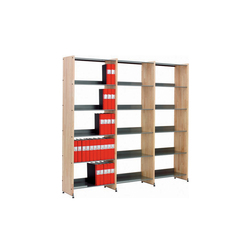 Littbus Wood / Single sided 374x2044 mm | Library shelving systems | Lustrum