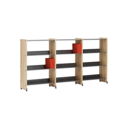 Littbus Wood / Single sided 290x1084 mm | Library shelving systems | Lustrum