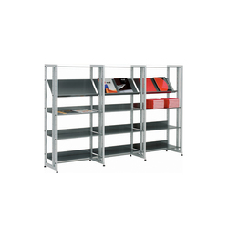 Littbus Steel / Single sided 374x1404 mm | Estanterías para bibliotecas | Lustrum