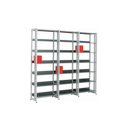 Littbus Steel / Single sided 374x2044 mm | Estanterías para bibliotecas | Lustrum