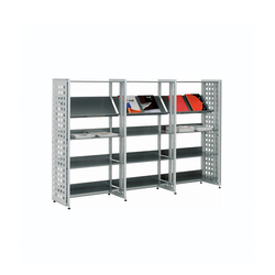 Littbus Perforated Steel / Single sided 374x1404 mm | Library shelving systems | Lustrum