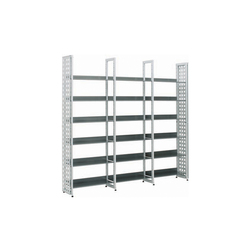 Littbus Perforated Steel / Single sided 290x2044 mm | Library shelving systems | Lustrum
