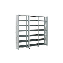 Littbus Perforated Steel / Single sided 374x2044 mm | Library shelving systems | Lustrum