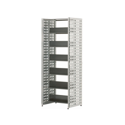 Littbus Perforated Steel / Double sided 542x2044 mm | Library shelving systems | Lustrum