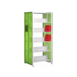 Littbus Glass / Double sided 542x1724 mm | Library shelving systems | Lustrum