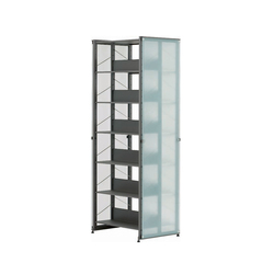 Littbus Glass / Double sided 542x2044 mm | Library shelving systems | Lustrum