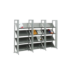 Littbus Steel / Single sided 374x1404 mm | Library shelving systems | Lustrum