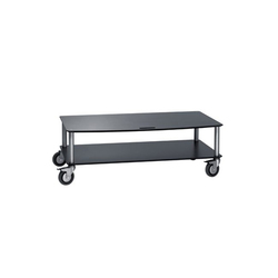 Base TV-Trolley with 2 shelfs | Multimedia trolleys | Cascando