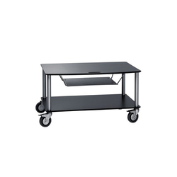 Base TV-Trolley with 2 shelfs + DVD tra | Multimedia trolleys | Cascando