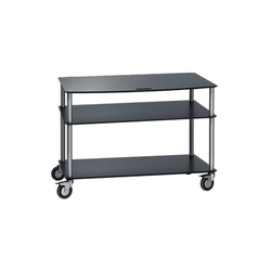 Base TV-Trolley with 3 shelfs | Chariots Hifi/TV | Cascando