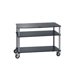 Big Base TV-Troley with 3 shelfs | Multimedia trolleys | Cascando