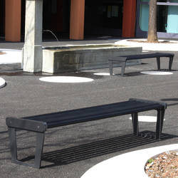 City Bench Type V without backrest, standard | Exterior benches | BURRI