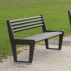 City Bench Type V with backrest | Exterior benches | BURRI