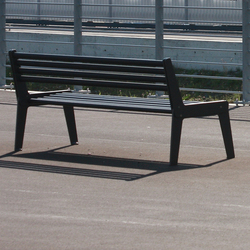City Bench Type A with backrest and armrest | Exterior benches | BURRI