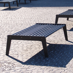 City Bench Type A without backrest, standard | Exterior benches | BURRI