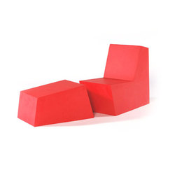 Primary Solo with Ottoman red | Sillones de jardín | Quinze & Milan