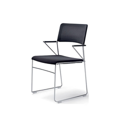 outline chair with armrests | Sedie visitatori | Wiesner-Hager