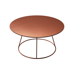 Breeze copper coffee table | Lounge tables | Swedese