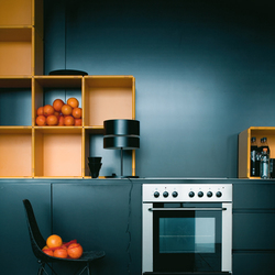 q28_kitchen_deep orange | Shelving | qubing.de