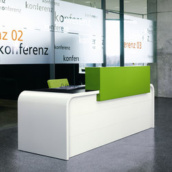 Highline M16 Reception desk | Banques d'accueil | Müller Möbelfabrikation
