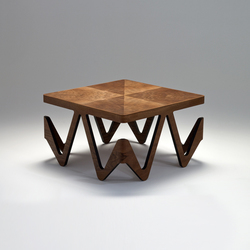 onda coffee table | Mesas de centro | nut + grat