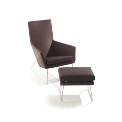 Don armchair with footstool | Lounge chairs | Label