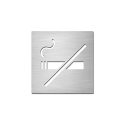 Pictograms square | stainless steel | Non-smoking | Prohibition signs | Serafini