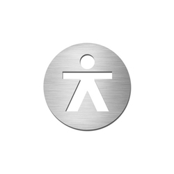 Pictograms round | stainless steel | Gentlemen | Toilet signs | Serafini