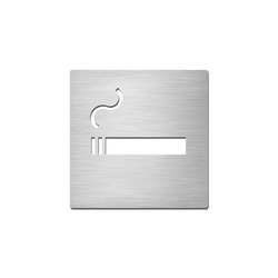 Pictograms square | stainless steel | Smoking | Plaques de porte | Serafini