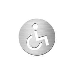 Pictograms round | stainless steel | Disabled | Room signs | Serafini