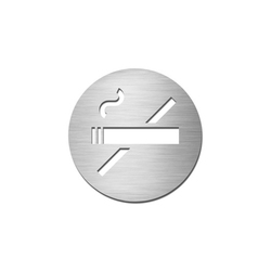 Pictograms round | stainless steel | Non-smoking | Prohibition signs | Serafini