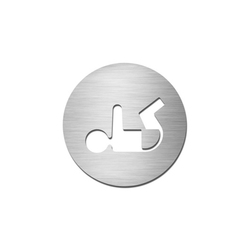 Pictograms round | stainless steel | Baby change | Room signs | Serafini