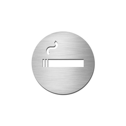 Pictograms round | stainless steel | Smoking | Cartelli segnaletici per ambienti | Serafini