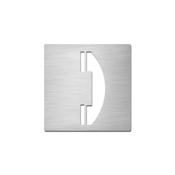 Pictograms square | stainless steel | Telephone | Communication area signs | Serafini