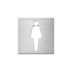 Pictograms square | stainless steel | Ladies | Toilet signs | Serafini