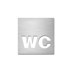 Pictograms square | stainless steel | WC | Symbols / Signs | Serafini