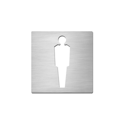 Pictograms square | stainless steel | Gentlemen | Toilet signs | Serafini