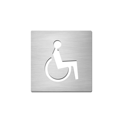 Pictograms square | stainless steel | Disabled | Plaques de porte | Serafini