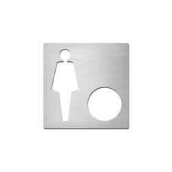 Pictograms square | stainless steel | Ladies+ | Toilet signs | Serafini
