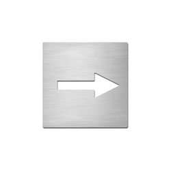 Pictograms square | stainless steel | Direction | Wayfinding | Serafini